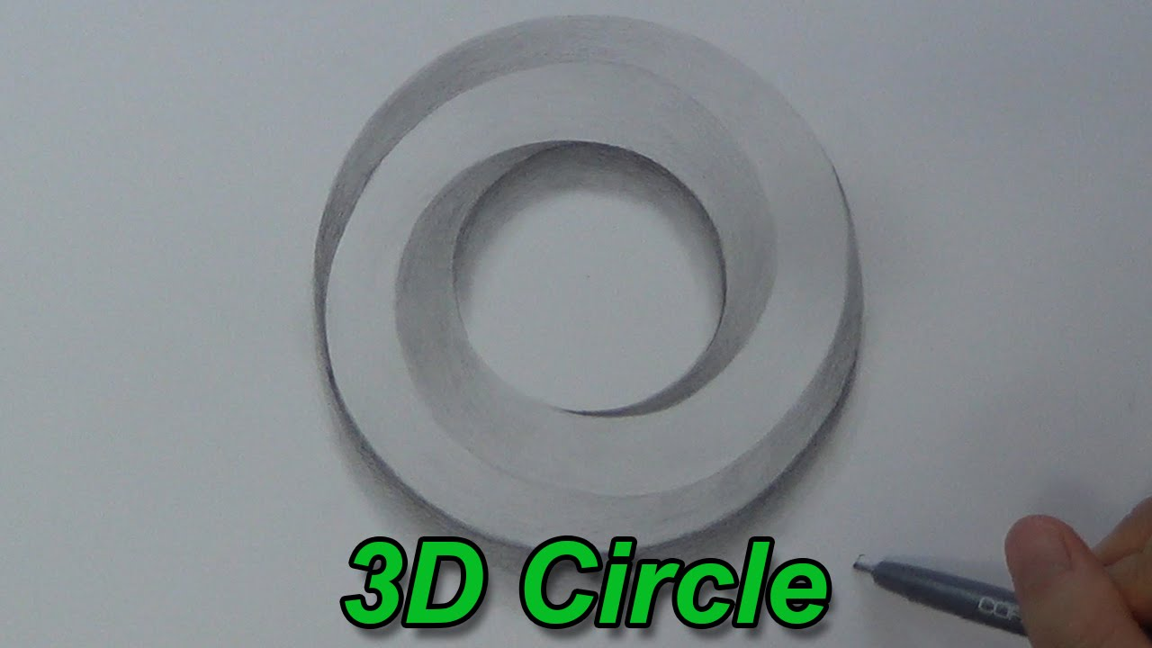 how to draw an impossible circle 3d circle impossible
