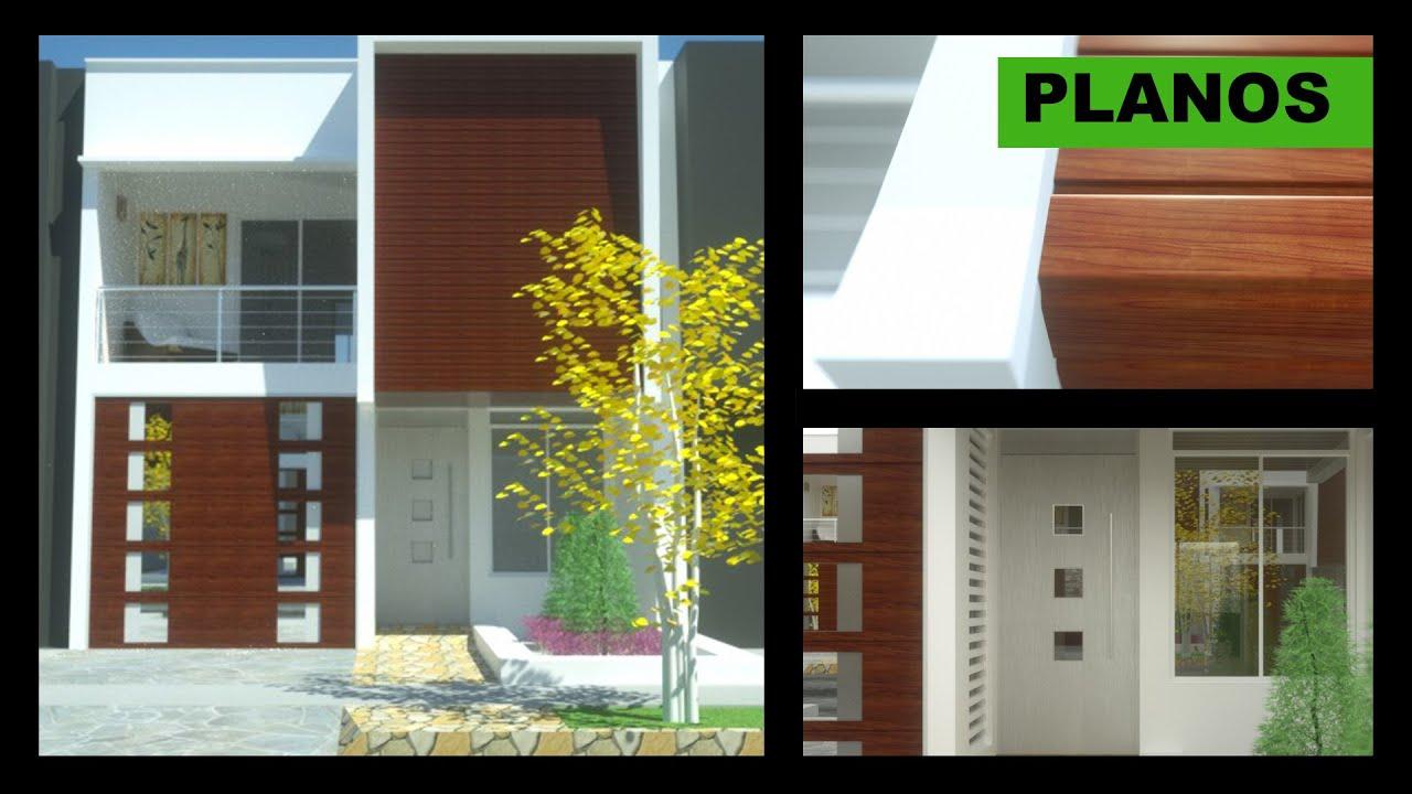 Planos casa moderna 2 pisos 6m x 12m villa del sol youtube for Planos para casas de dos pisos modernas