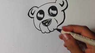 Drawing a Teddy Bear Skull - Easy Pictures to Draw