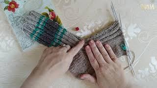 Рандомное вязание День 21 Вяжу Зимние носочки