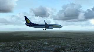 iFly 737NG landing at ImagineSim's Indira Gandhi Int'l (VIDP), New Delhi, India (FSX)