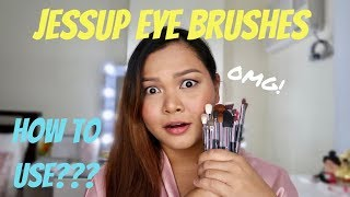 Jessup Eye Makeup Brushes review + How to use!