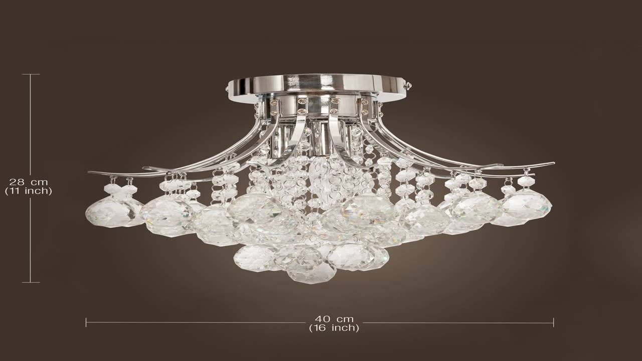 Elegant designs fm1000 chr ellipse crystal 2 light ceiling flush elegant designs fm1000 chr ellipse crystal 2 light ceiling flush mount chro youtube aloadofball Choice Image