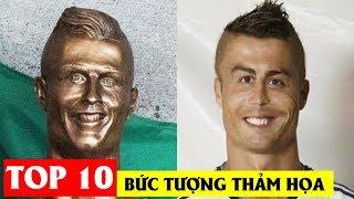 Top 10 bức tượng danh thủ bóng đá thảm họa nhất hệ mặt trời 😂😂