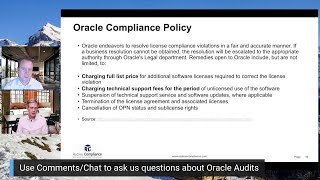 Do you have 30 days to pay Oracle at the end of an Oracle License Audit? Not so fast..