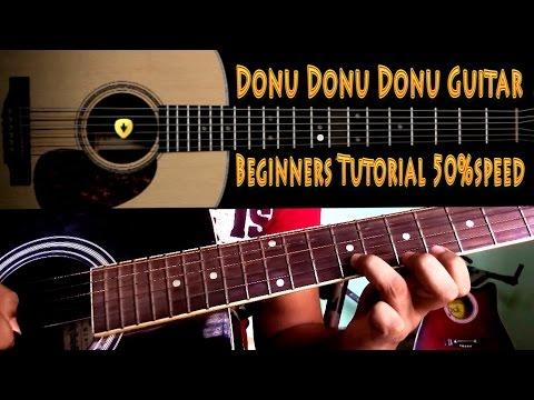 Donu Donu Donu Mari Guitar Tutorial for Beginners at 50%speed