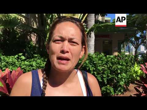 Honolulu residents speak of panic following false missile alarm
