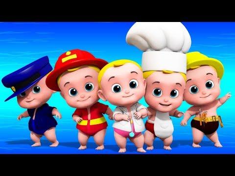 Cinque piccoli bambini | Filastrocche | Canzoni per bambini | Five Little babies | Nursery Rhymes