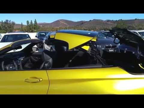 "NEW BMW M4 CONVERTIBLE AUSTIN YELLOW BLACK 19"" M Wheel Car Review"