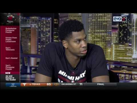 February 01, 2017 - FSS - Miami Heat's Hassan Whiteside Post Game Interview (Vs Atlanta Hawks)