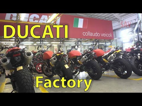 Ducati Factory, (Borgo Panigale, Bologna, Italy) Production Footage, Assembly Plant