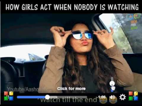 A girl makes noise in the car funny video