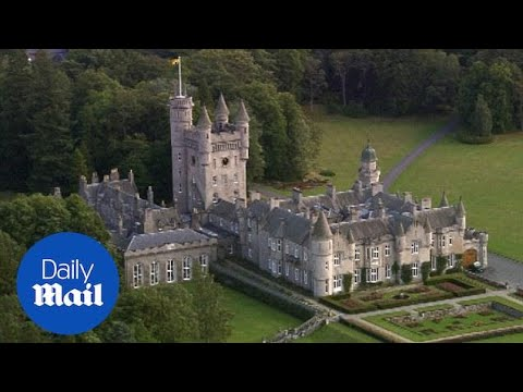 Stunning aerial views of Balmoral Castle in Scotland - Daily Mail