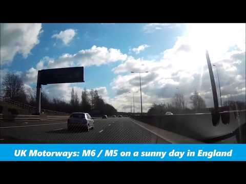 UK Motorways M6 & M5 On A Sunny Day in England