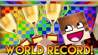WORLD RECORD! Minecraft Party Game Triathlon! Dance with Me (Twerk, Jive, Rodeo & More!)