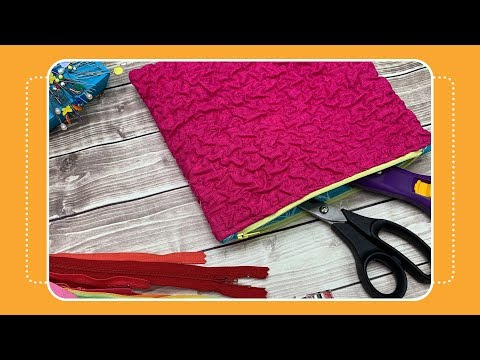How To Make A Textured Zipper Pouch: Day 2 Of 12 Days Of Last Minute DIY Gifts