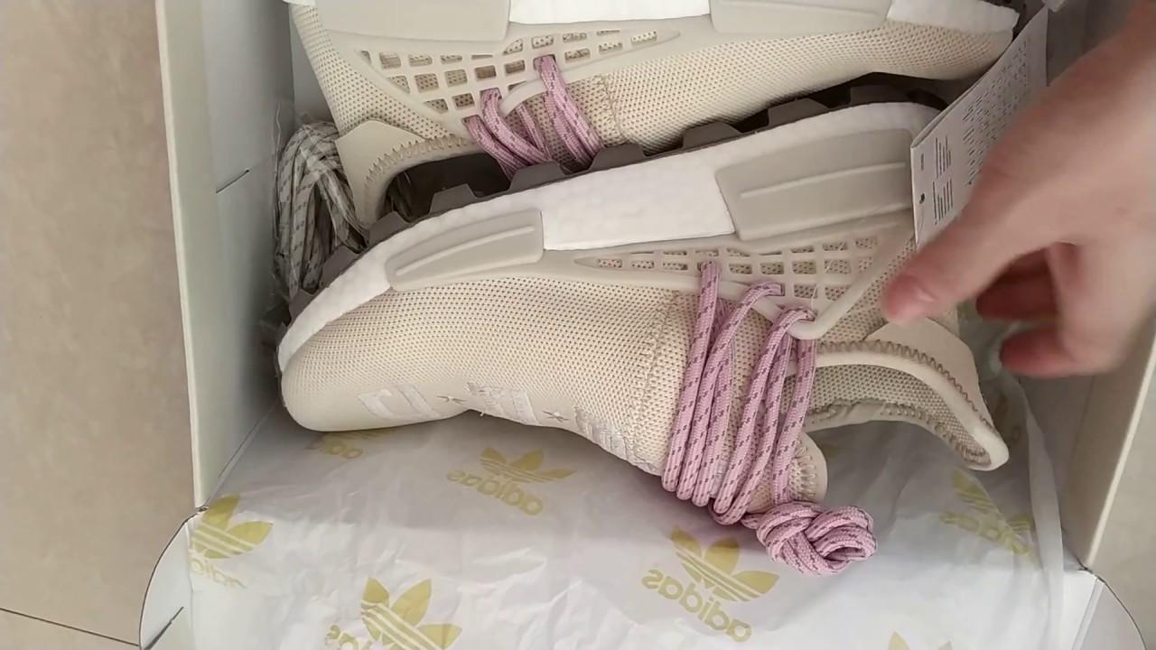 Pharrell Williams x Adidas Human Race NMD Hu NERD EE8102 - YouTube 0dccf2c04c18