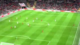 PAPER AIRPLANE launched from TOP of stadium hits player! LMAO [England vs Peru] [RAW FOOTAGE]