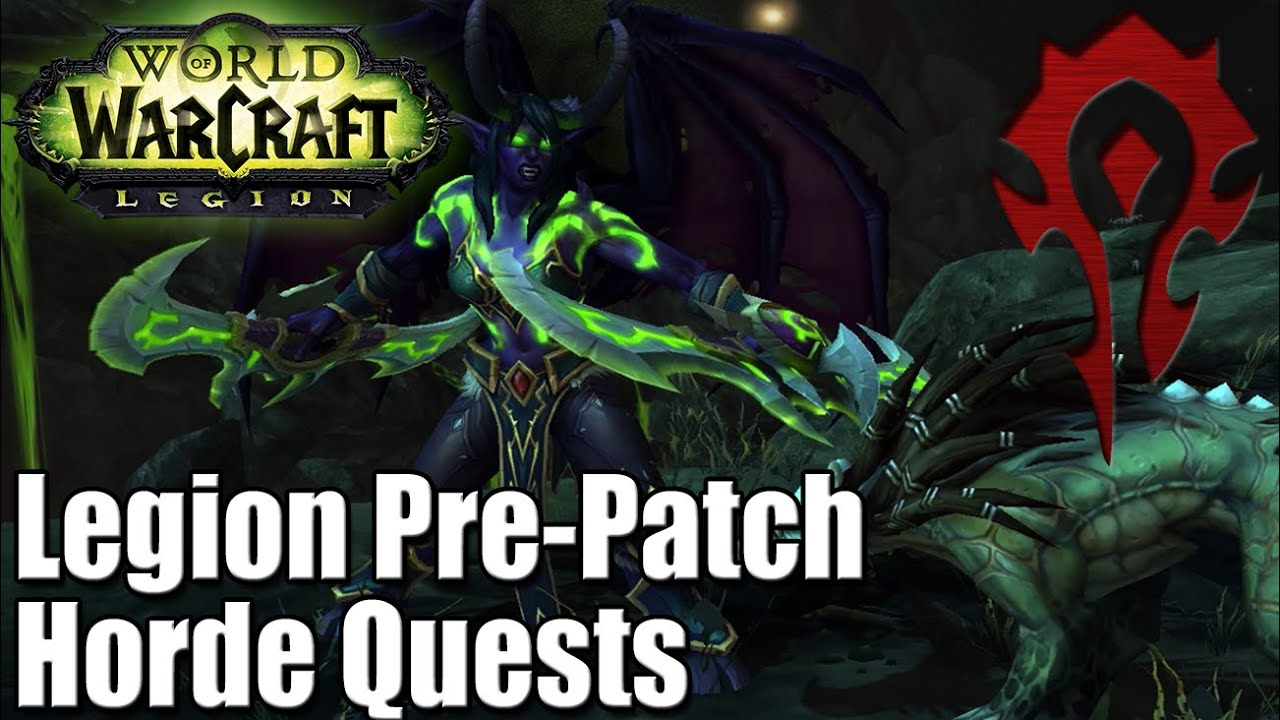 wow legion pre patch quests