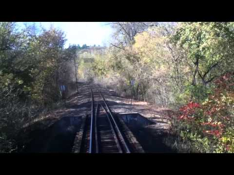 Osceola & St. Croix Valley Railroad Marine on St. Croix, MN to Osceola, WI 10/13/13 HD