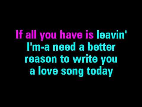 Love Song Sara Bareilles Karaoke  You Sing The Hits