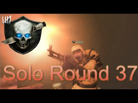 Black Ops II Zombies - Round 37 Solo, and Hitler ?!