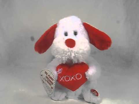 Singing Animated Plush Dog Valentines Day Baby Justin Bieber New Tags See Video