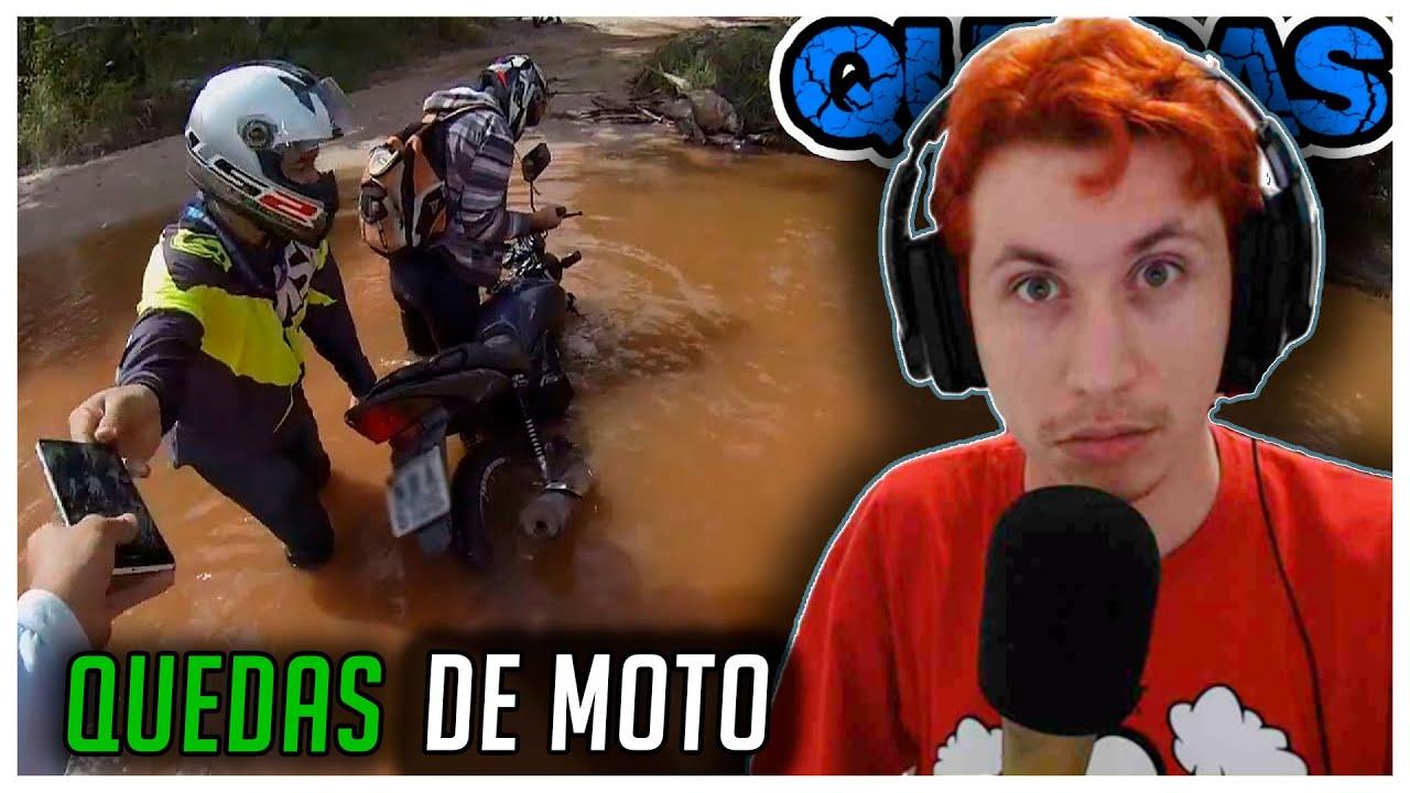 REACT QUEDAS DE MOTO (EP. 93) (Xracing Quedas)