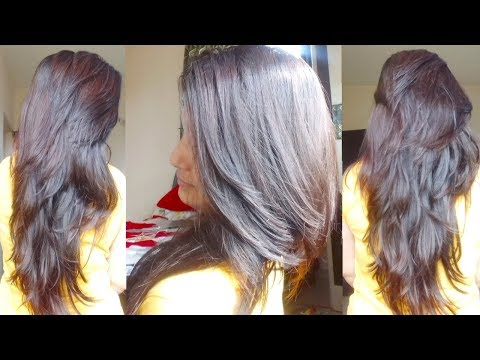 Step Plus Long Layer Cut At Home In Hindi|DIY Own Hair Cutting Tutorial|Alwaysprettyuseful