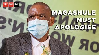 ANC president Cyril Ramaphosa delivered his closing address on 10 May 2021 after the party spent the weekend in its NEC meeting. In his address, Ramaphosa instructed suspended party secretary-general Ace Magashule to apologise for trying to suspend him or face necessary disciplinary processes.  #AfricanNationalCongress #CyrilRamaphosa #AceMagashule #StepAside
