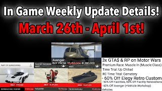 GTA 5 ONLINE WEEKLY UPDATE DETAILS! TRIPLE MONEY! NEW LIVERIES, VEHICLE DISCOUNTS, & MORE!