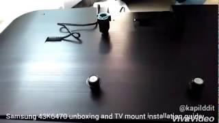 Samsung smart 43KU6470 TV installation guide for wall mounting