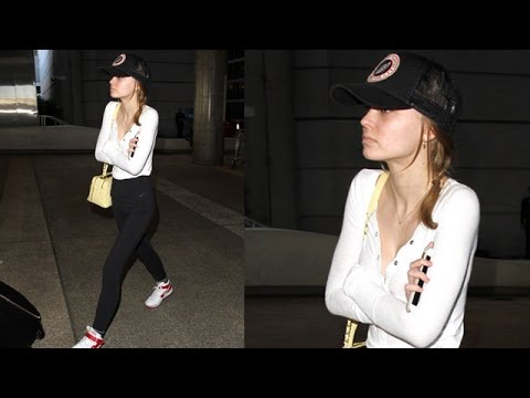 Lily-Rose Depp Looking Supermodel Thin At LAX