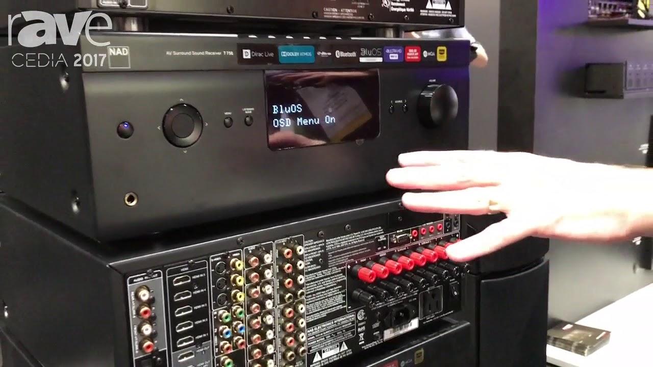 CEDIA 2017: Bluesound Intros NAD T758 AV Surround Sound Receiver