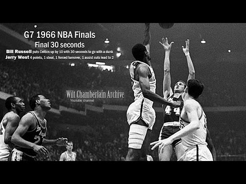 1966 NBA Finals G7 final 30 seconds (with Bill Russell and CLUTCH Jerry West)