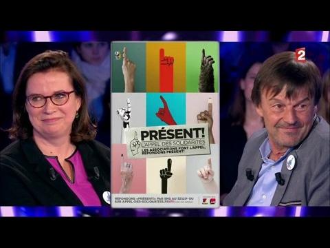 Nicolas Hulot & Claire Hedon - On n'est pas couché 15 avril 2017 #ONPC