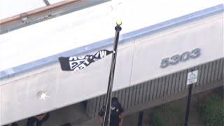 Protesters Raise Black Lives Matter Flag At Police Station