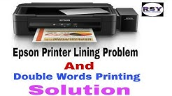 Epson L220 Lining And Double Words Printing Solution, Double Photo