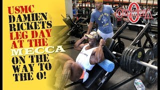 USMC DAMION RICKETTS KILLS LEGS AT THE MECCA ON THE WAY TO THE OLYMPIA