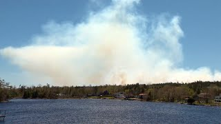 N.s. Fire Crews On Second Day Battling Brush Fire