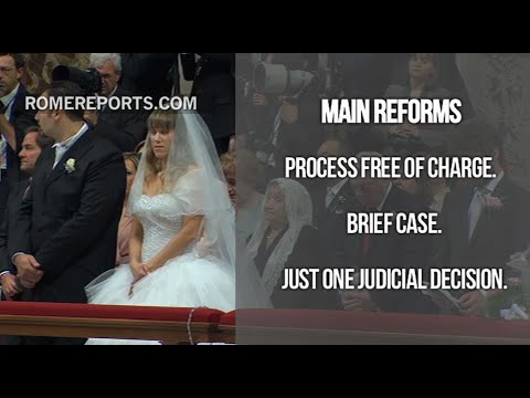 Pope: Marriage Annulment process is free