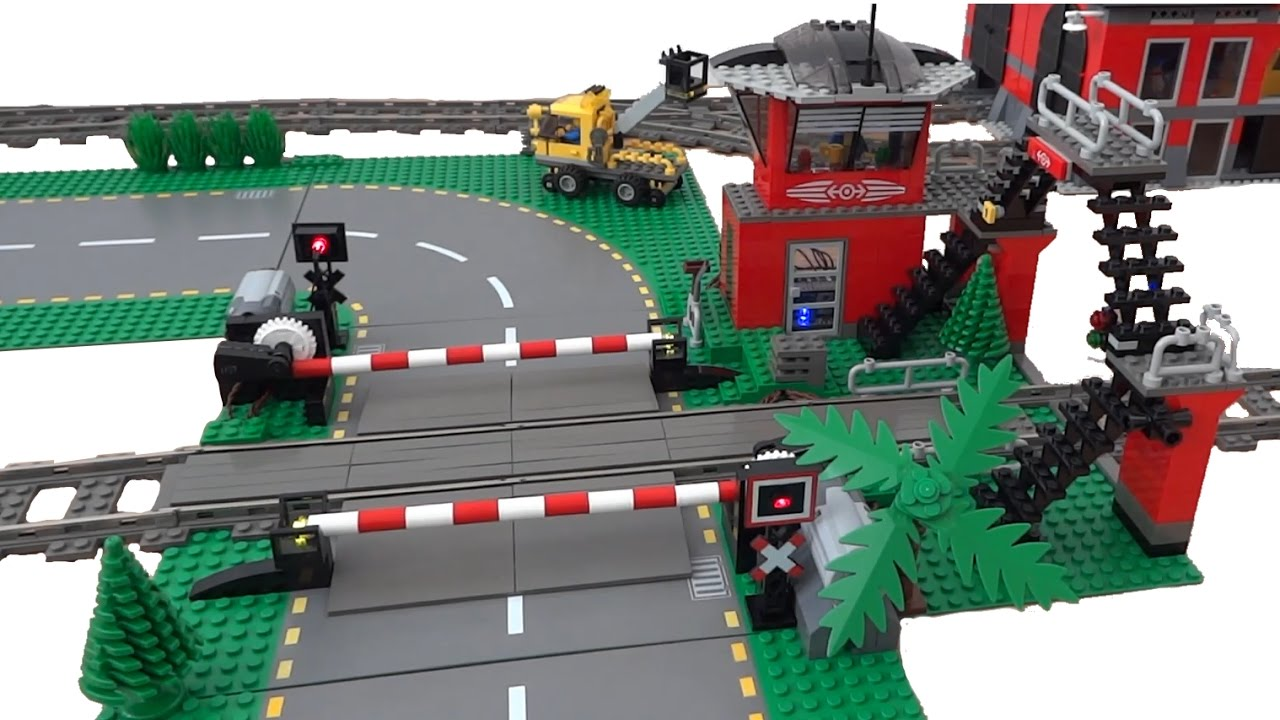 Lego train level crossing automated by arduino youtube