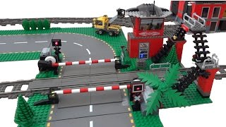 Lego train level crossing 10128 automated by Arduino