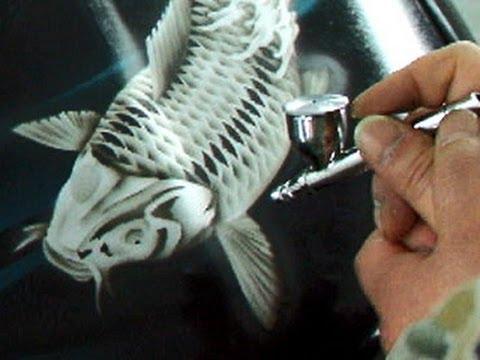 How to paint Koi Fish by air brush ?? VIP ???????????????