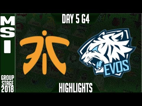 FNC vs EVS Highlights | MSI 2018 Day 5 Group Stage, Mid Season Invitational | Fnatic vs Evos Esports