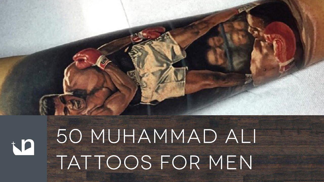 50 Muhammad Ali Tattoo Designs For Men – Boxing Champion Ink Ideas