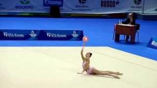 Титова Мария, мяч. Первенство России по гимнастике г.Казань 2014