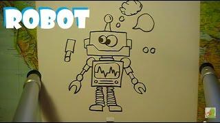 Lær at tegne EN ROBOT | HVORDANTEGNERJEG.DK