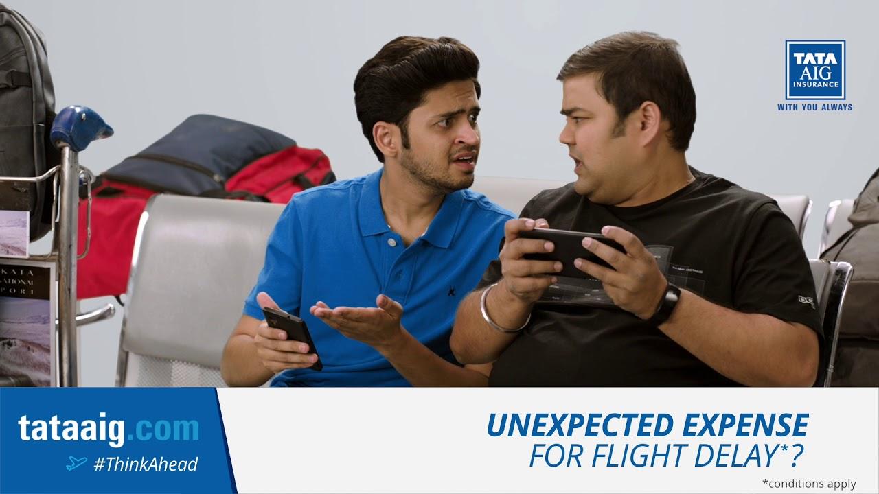 Tata AIG Travel Insurance - Flight Delay #ThinkAhead - YouTube