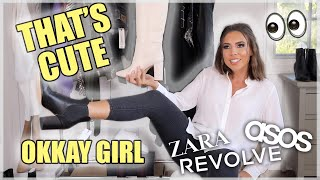 FALL CLOTHING TRY-ON HAUL! ZARA | ASOS | REVOLVE